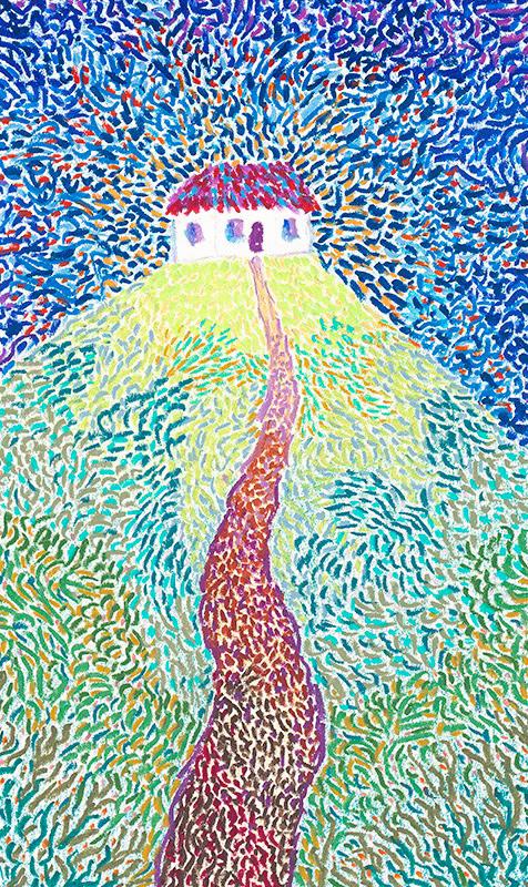 #116 (detail), 10/27/05, oil pastel, 14 x 11 in. ©Thordis Niela Simonsen